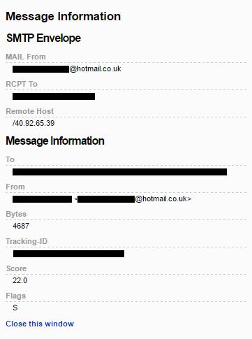 Hot Mail Co Uk >> Hotmail Co Uk Spf Misconfigured Microsoft Community