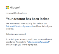 Account Locked Microsoft Community