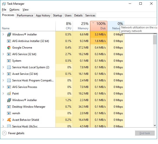 Windows 10 100% disk usage in Task Manager - Microsoft Community