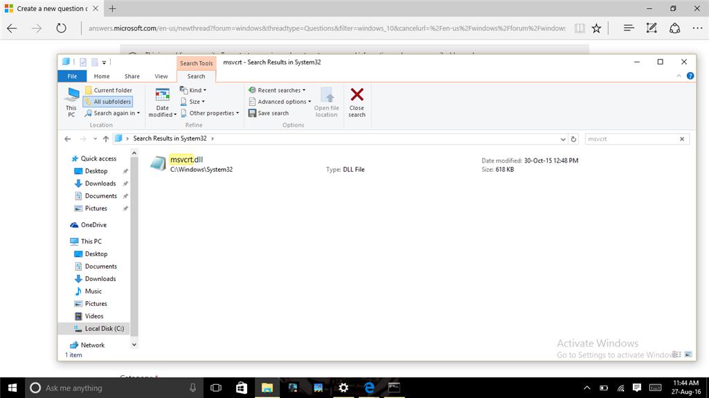 How to fix msvcrt. Dll file missing error youtube.