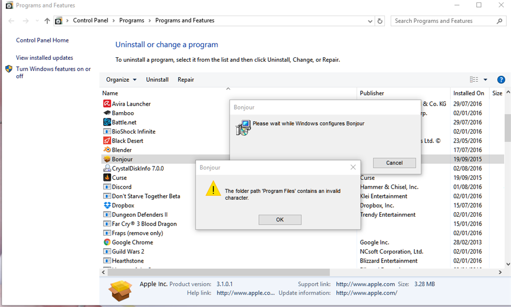 Delete Bonjour from my computer - Microsoft Community