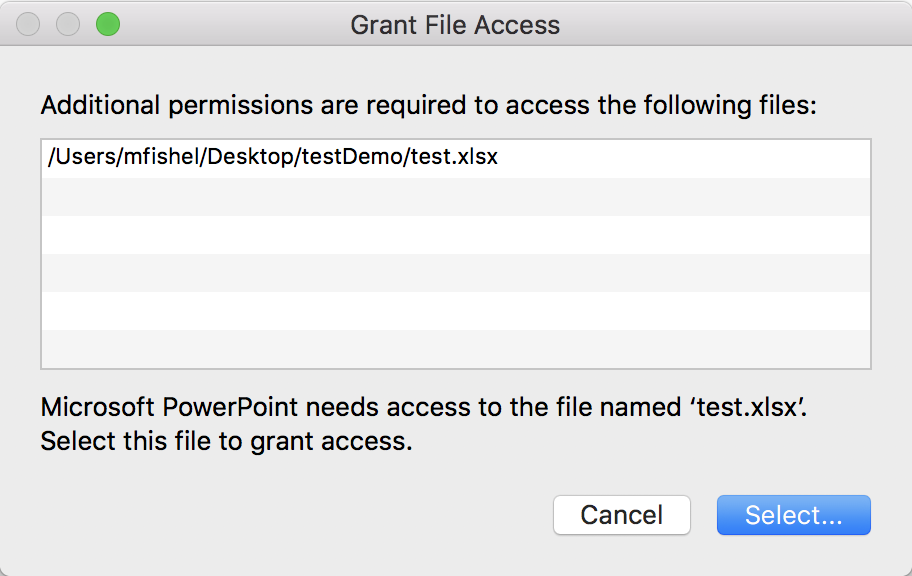 Grant Access Permission Error only when copy and paste