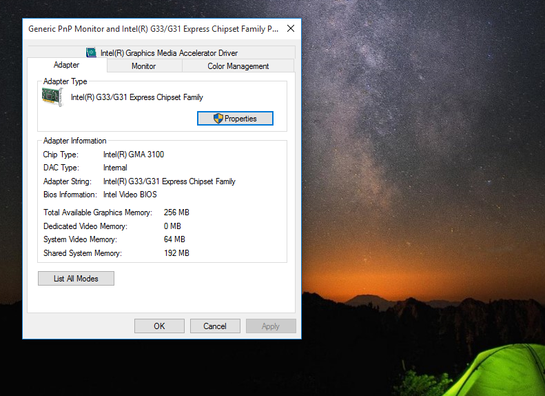 Query In Dedicated Video Card Memory In Windows 10