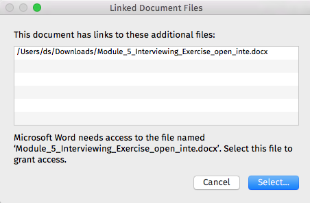 cant open word documents on my mac