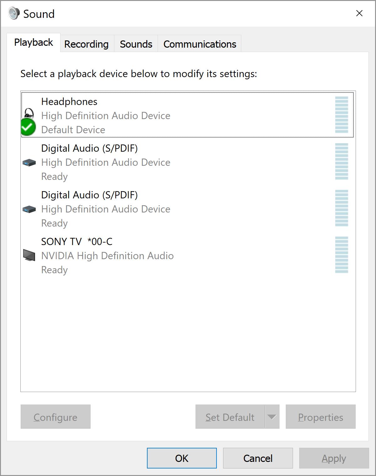 Windows 10 Default Sound Device - Microsoft Community
