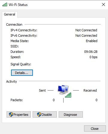 WiFi tab is missing in settings - Microsoft Community