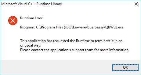 Microsoft Visual C Runtime Library Error Beim Drucken Nach