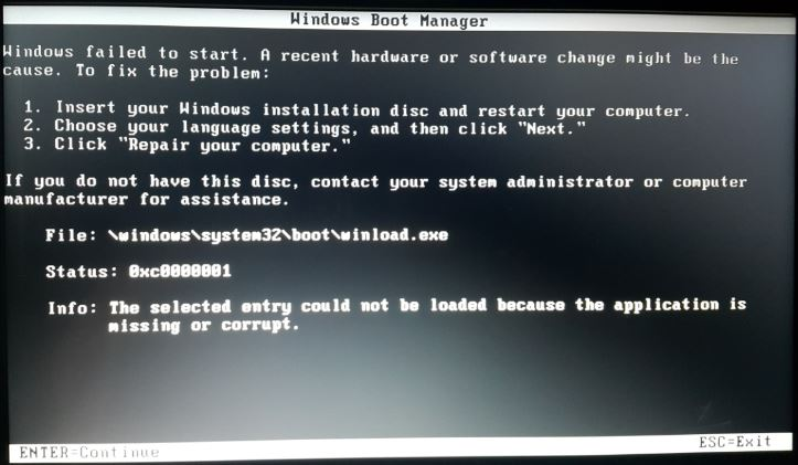 HP Laptop 15ay004ne does not boot and recognize anything - Microsoft