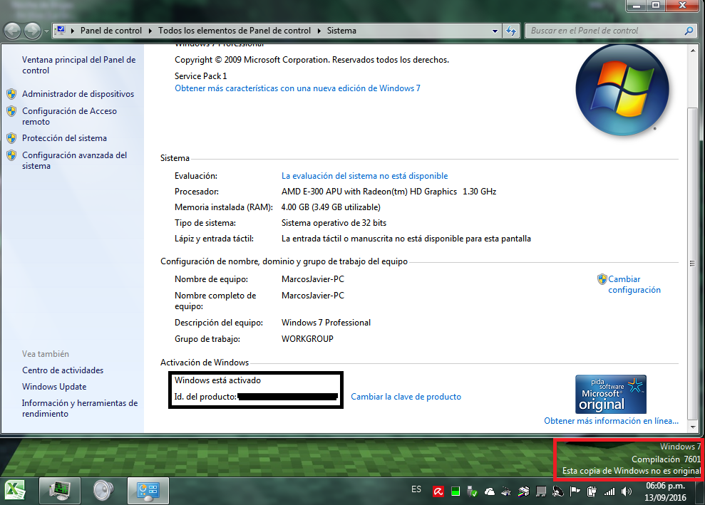 windows 7 compilacion 7601