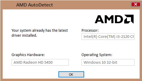 AMD Radeon HD 5450 graphics driver latest update changes and