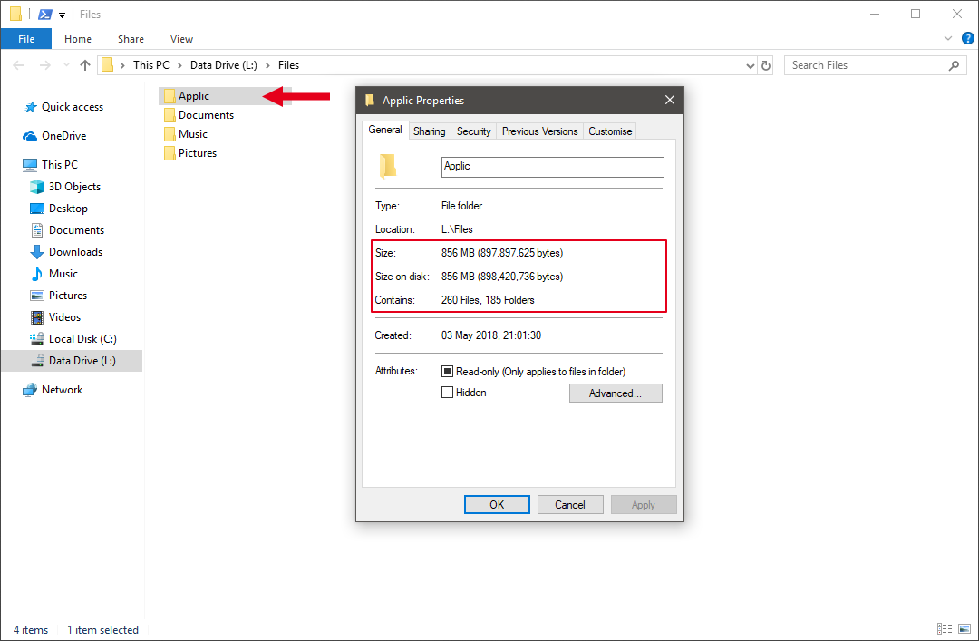 Windows File Explorer Not Showing Correct Folder Size If