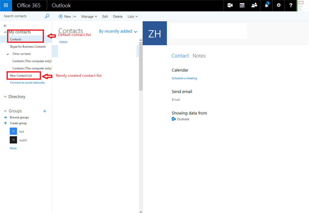 Snyc office 365 contacts with android phone contacts