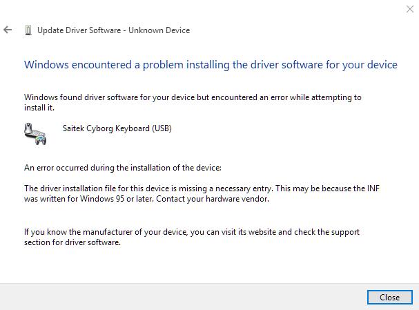 microsoft windows 10 keyboard not working