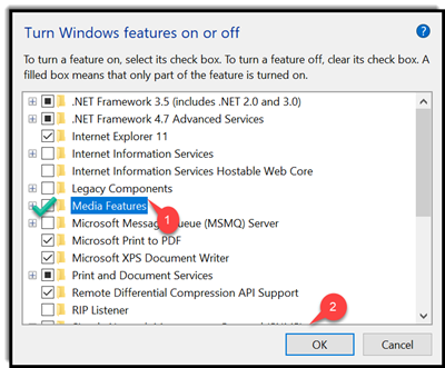 Can't install MS Media Features Pack - Windows Overflow