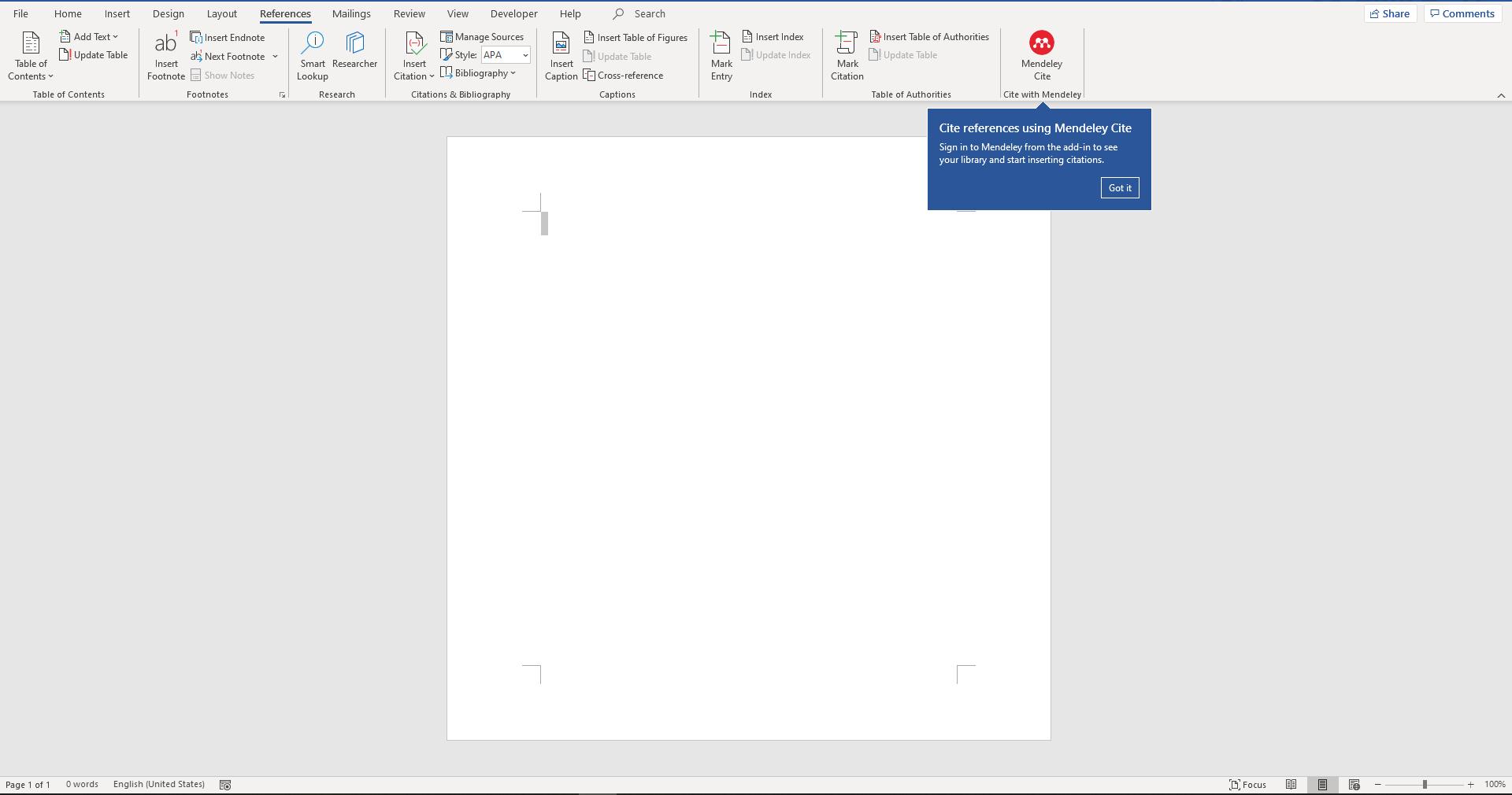 Mendeley Cite Missing In Office Word 365 Microsoft Community