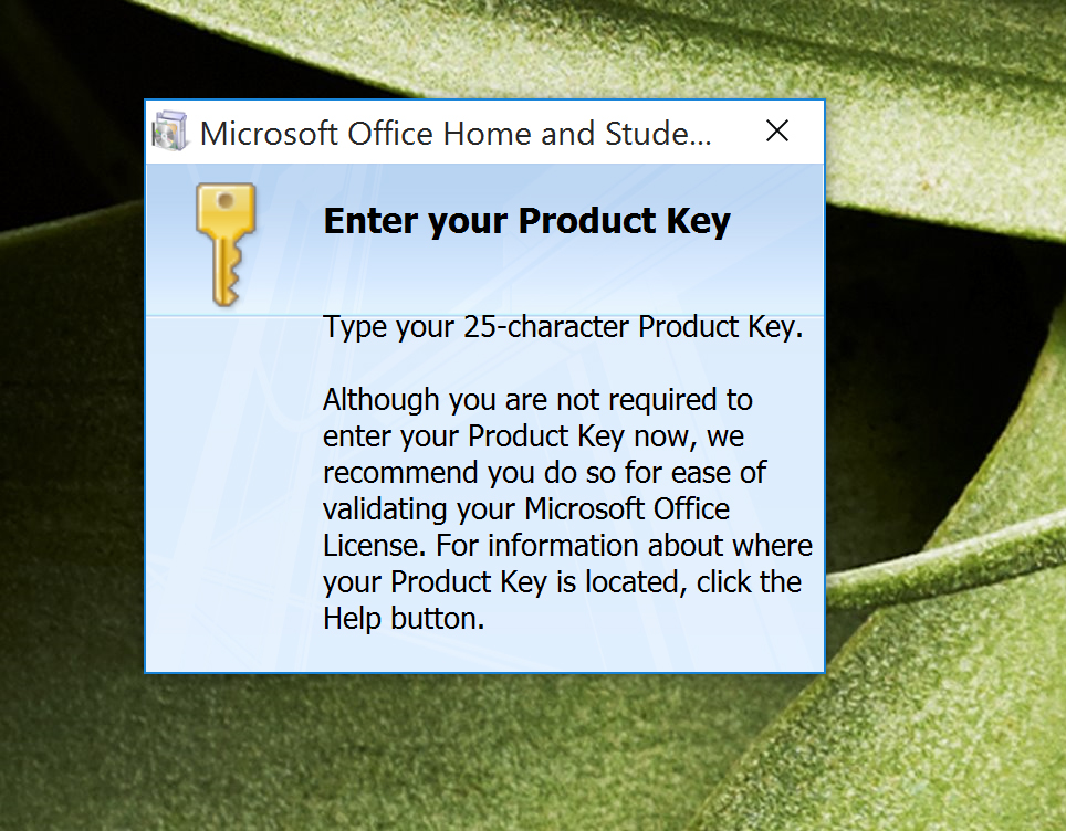 microsoft office 2007 product key support