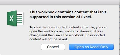 excel for mac macros not working