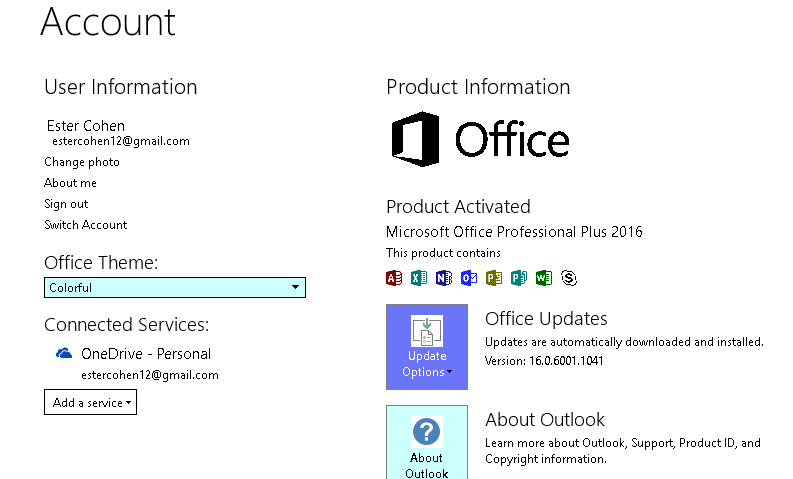 Office Pro Plus 2016 Windows 10 No Colors In Outlook No Office