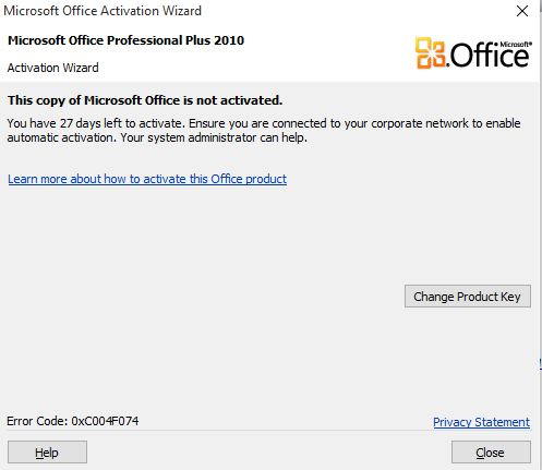 activate microsoft office 2010 key