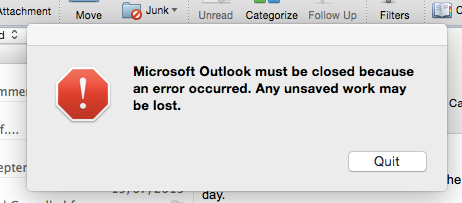 Outlook won't open -