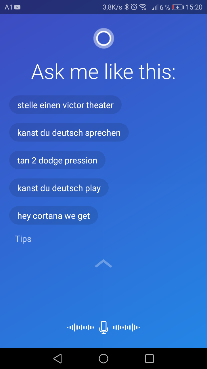 Cortana digital für Android