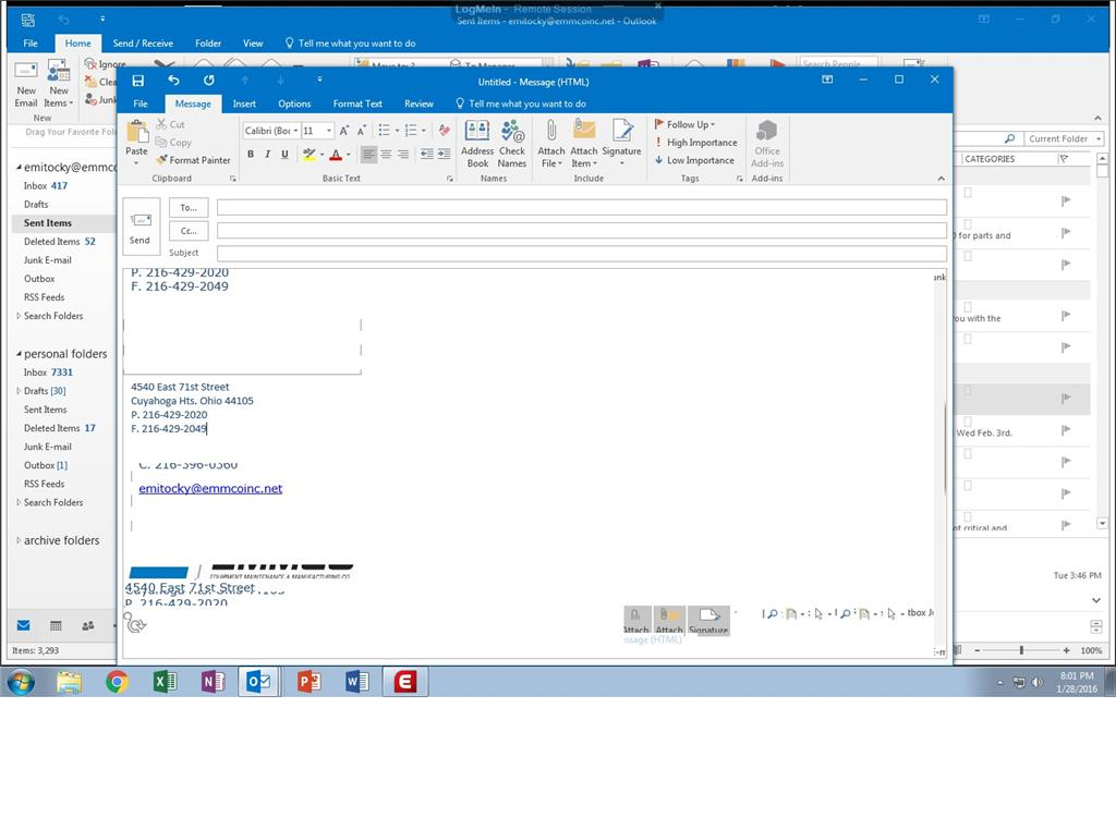How to setup an automatic signature in outlook 2020