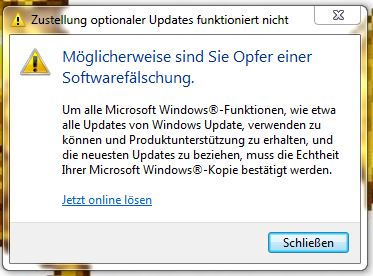 Softwarefälschung?