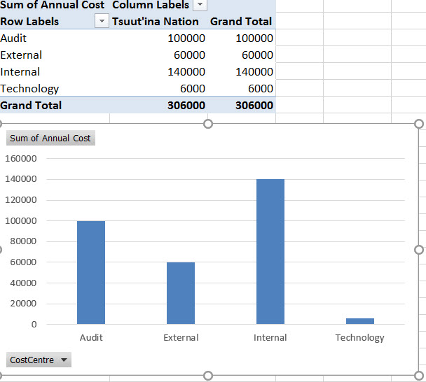 Pivot Table Chart From Access Data Can T Include Column