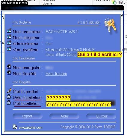 le logiciel winfokeys