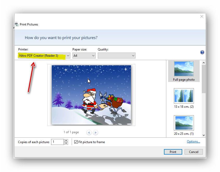 Exporting photo as PDF - Microsoft Community