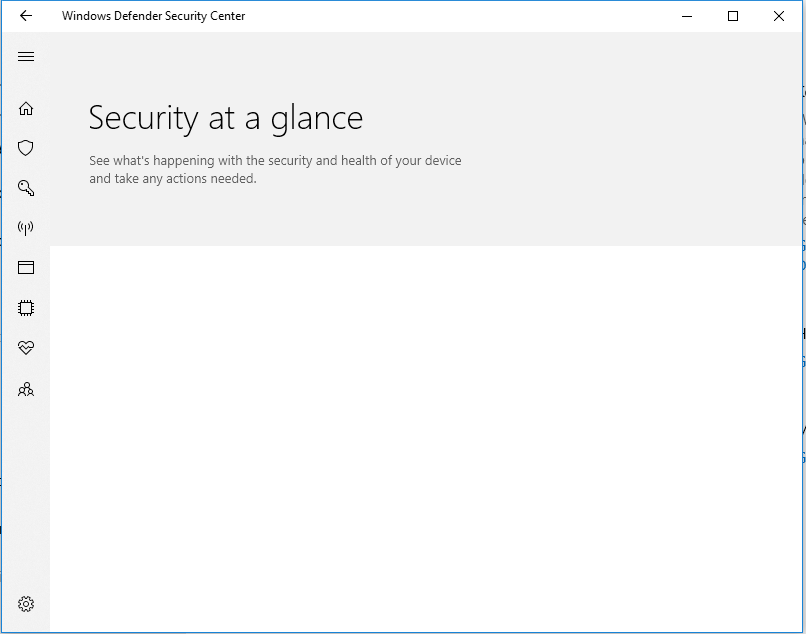 windows defender security center not opening