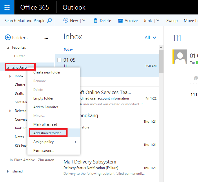 Shared Mailboxes Do Not Show In Outlook On The Web Microsoft Community