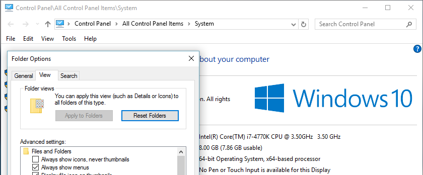 windows 10 system properties toolbar missing - Microsoft ...