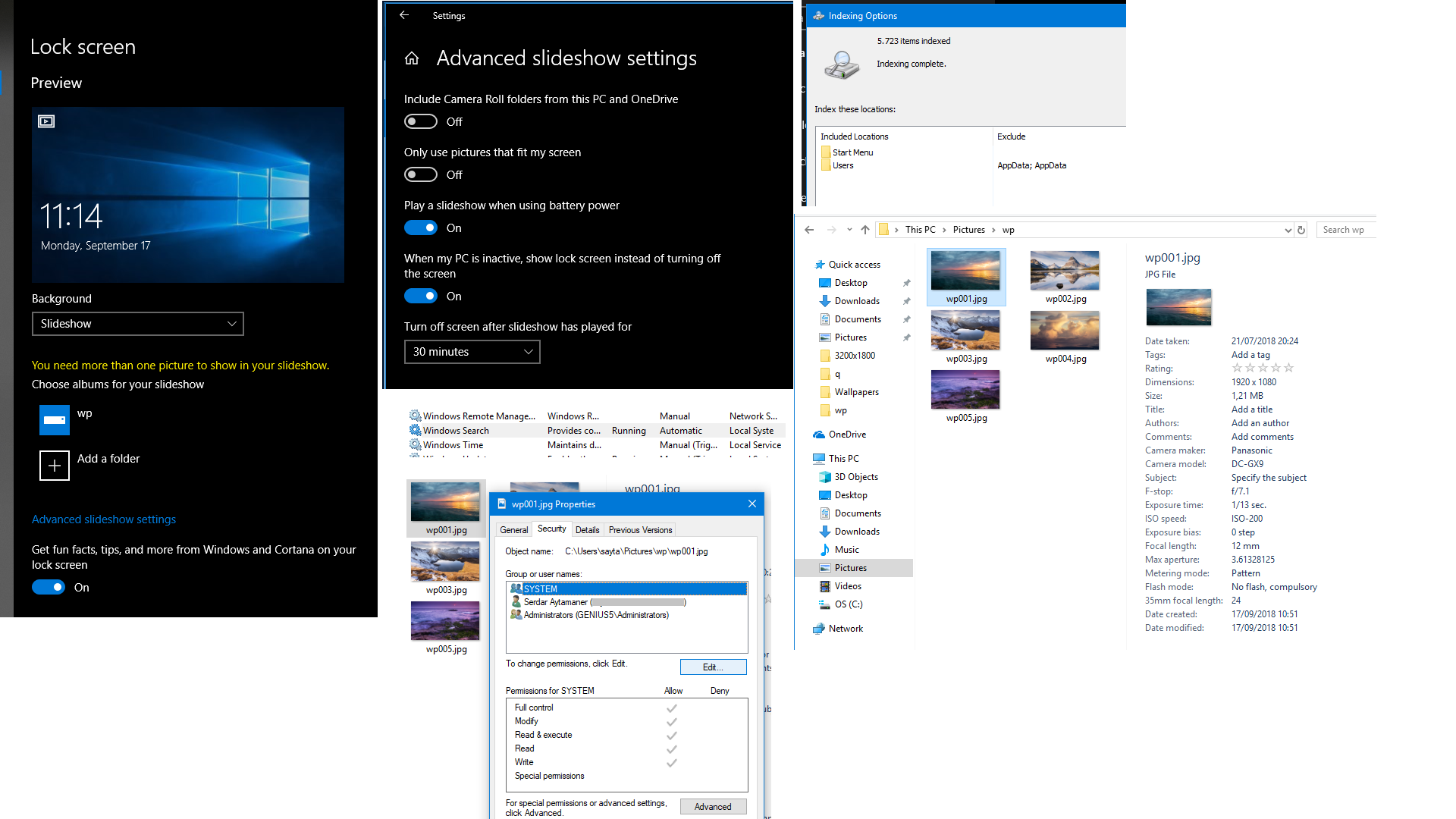 Windows 10 desktop wallpaper slideshow not working