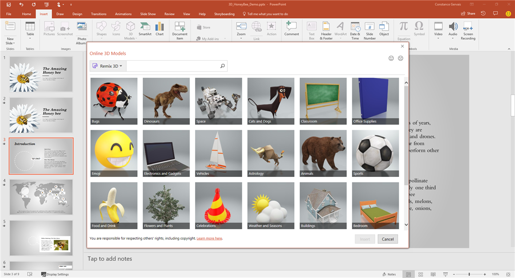 insiders insert 3d models from remix 3d microsoft community