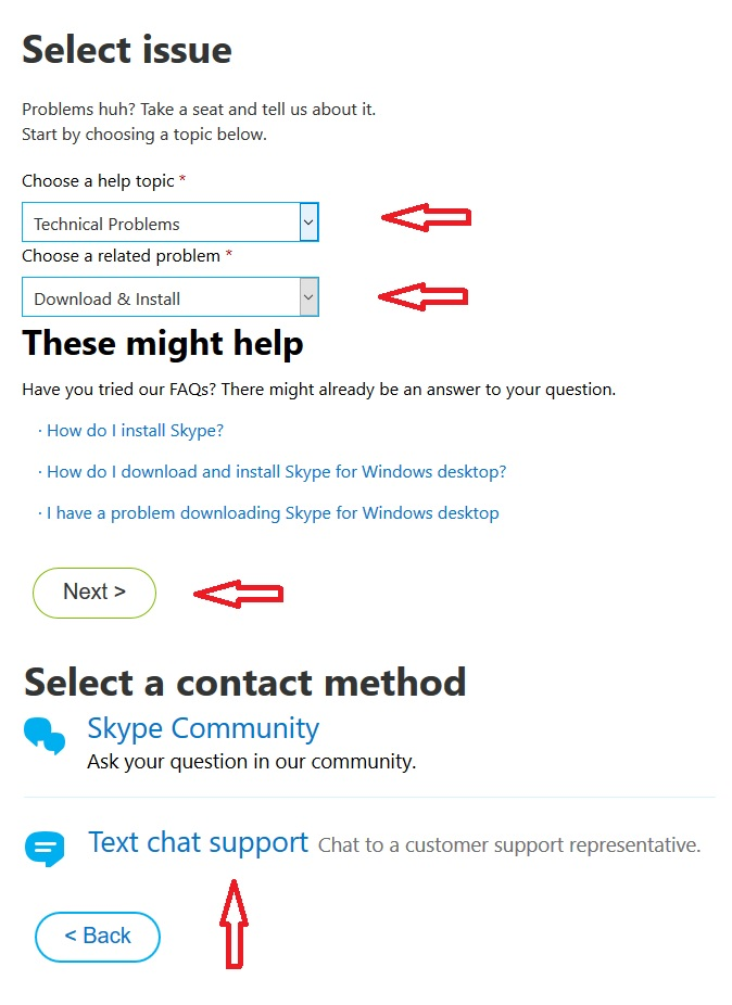 Where is Skype Live Chat Support? - Microsoft Community