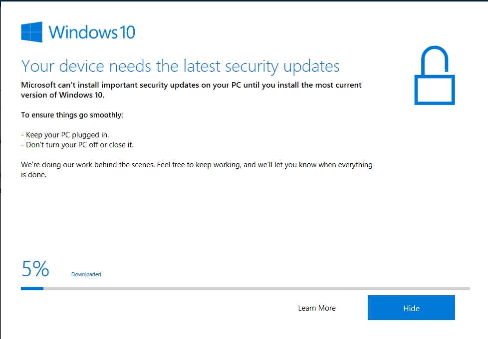 How to Fix: Windows 10 1709 Won't Install | www infopackets com