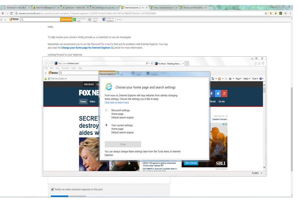 Internet Explorer 11 locking up with a windows pop-up