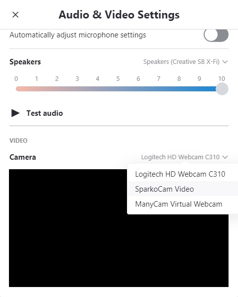 How do I make OBS VirtualCam, ManyCam or XSplit available to