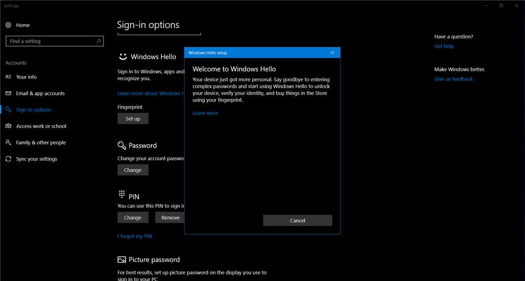 Lenovo P50 - Biometric device stopped working - Windows 10 Creators