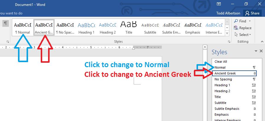 Ancient Greek Characters and Font - Microsoft Community