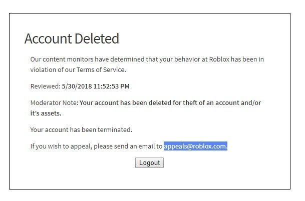 How to i unlink a terminated roblox account from my xbox one