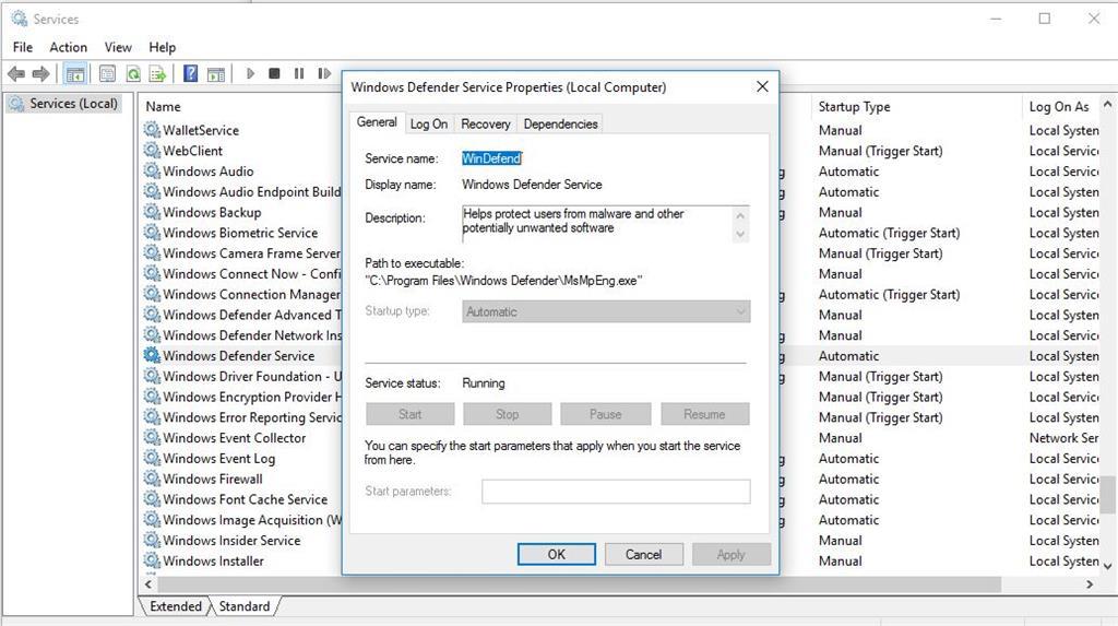 msmpeng.exe end process access denied