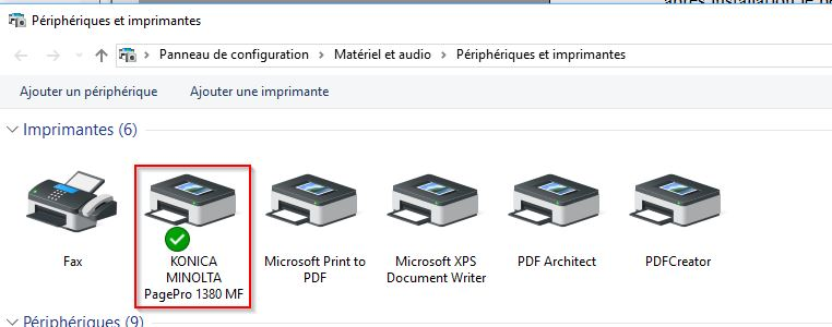 Konika Minolta PagePro 1380 MF printer driver for Windows 10