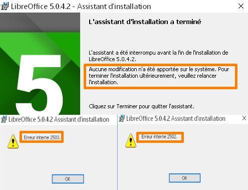 Installation Impossible De Libre Office