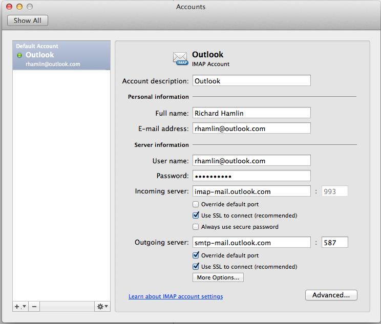 Outlook 2011 Mac - Sync Pending for IMAP accounts