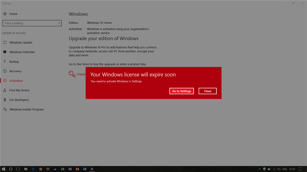 your windows license expire soon on my preinstalled - Microsoft