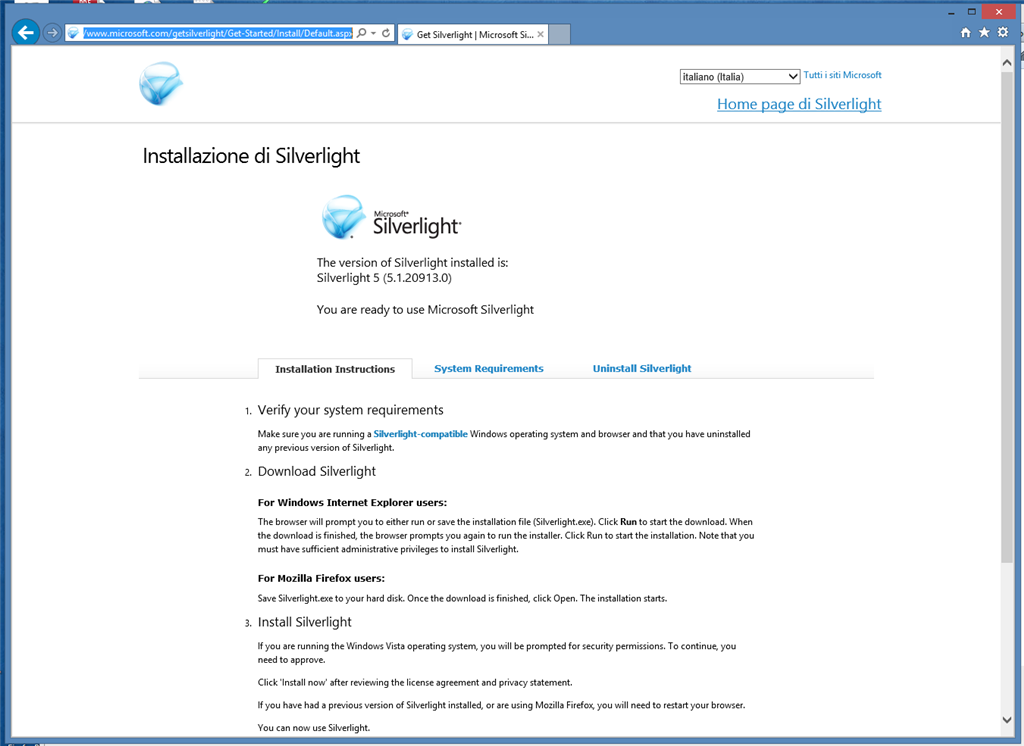 internet explorer 11 silverlight not working windows 10