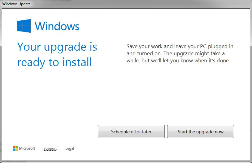 windows 10 upgrade window