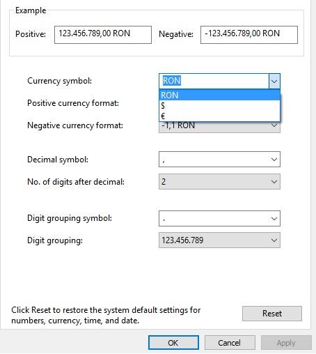 Windows 10 Romanian Currency Symbol Microsoft Community